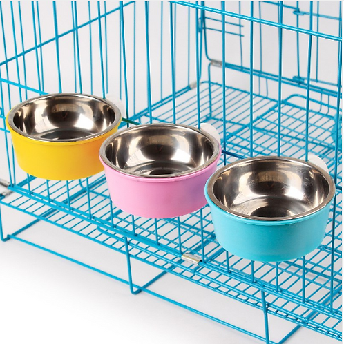 Hanging Stainless Steel Dog Bowls