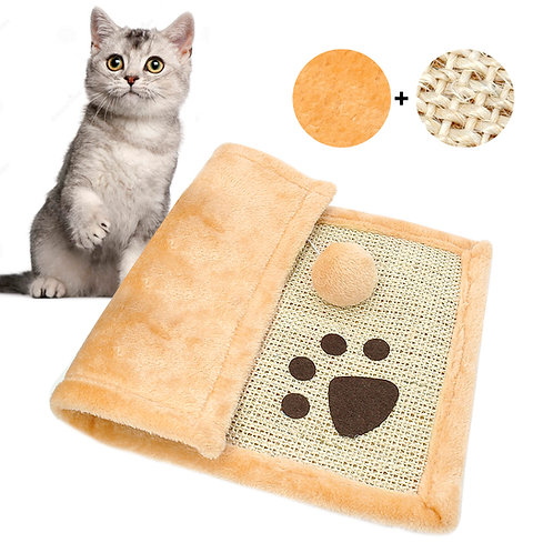 Cat Scratch Toy With Ball Soft Sleeping Mat Bed Kitten Cats Training Toys