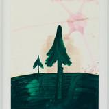 Matthias Dornfeld, Landscape, 2018, oil on paper , 84x59cm, framed  EUR 2'400 CHF 2'600