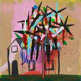 Matthias Dornfeld, Untitled (flowers), 2019, oil on canvas, 100x70cm  EUR 6'600 CHF 7'200