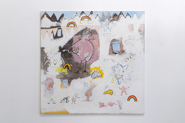 Wolfskind, 2019, oil on canvas, 170x170cm EUR 6'200