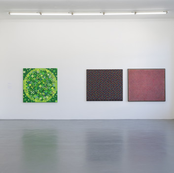 Ding Yi, Installation View, 2014, Witte de With, Rotterdam