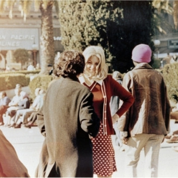 Lynn Hershman Leeson, Roberta and Irwin Meet for the First Time in Union Square Park, 1975, photography, chromogenic print, 25.2x20cm