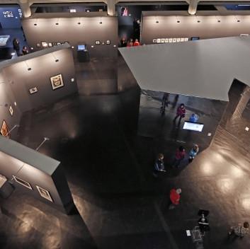 Lynn Hershman Leeson, installation view, ZKM Karlsruhe, CIVIC RADAR, 2015