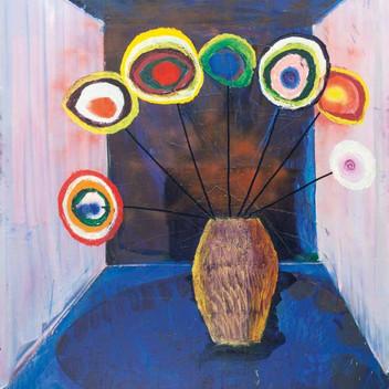 Matthias Dornfeld, untitled (Blumenstrauss im Raum mit gelber Vase), 2011, 180x150cm