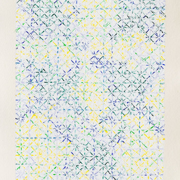 Ding Yi, Appearance of Crosses 2017-B19, 2017, acrylic on handmade paper, 43x32cm EUR 12'500