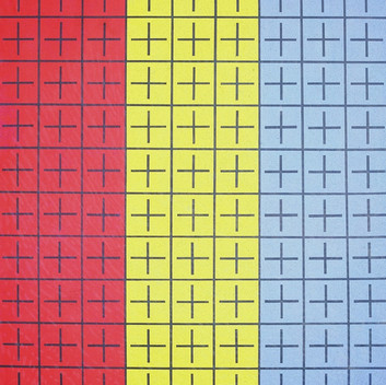 Ding Yi, Appearance of Crosses, 1988, acrylic on canvas