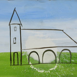 Matthias Dornfeld, Kirche (out of the house and landscape series), 2019, oil on canvas, 90x120cm  EUR 7'500 CHF 8'200