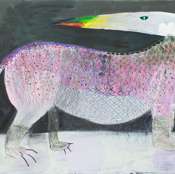 Matthias Dornfeld, untitled (Getier), 2017, oil on canvas, 150x210cm