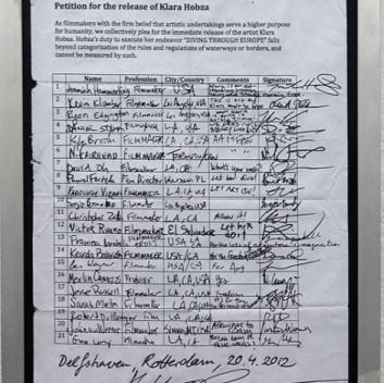 Klara Hobza, Petition (Delfshaven, Rotterdam), 2012, from the series Diving