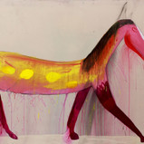 Matthias Dornfeld, untitled (out of the horse series), 2018, acrylic on canvas, 160x260cm  EUR 16'800 CHF 18.400