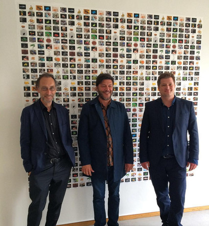 Lorenz Helbling, Philippe Pirotte, Patrick Waldburger  bürobasel, Juni 2018  wallpaper image byby Lynn Hershman Leeson
