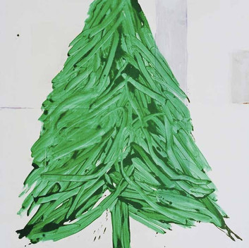 Matthias Dornfeld, Tanne, 2002, acrylic on canvas, 200x140cm