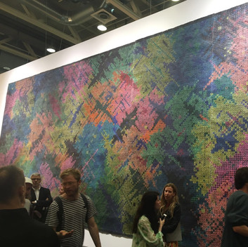 Ding Yi, Installation View, 2016, Art Basel Unlimited