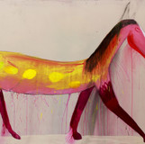 Matthias Dornfeld, untitled (out of the horse series), 2018, acrylic on canvas, 160x260cm EUR 19'000