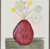 Matthias Dornfeld, Untitled (flowers), 2018, oil and pencil on paper, framed,  56x42cm n.a.