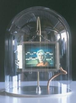 Lynn Hershman Leeson, Synthia Stock Ticker, 2000-2002, digital installation