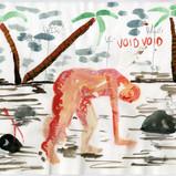 Untitled, 2018, pencil, colour pencil, water colour on paper, 21x29.7cm