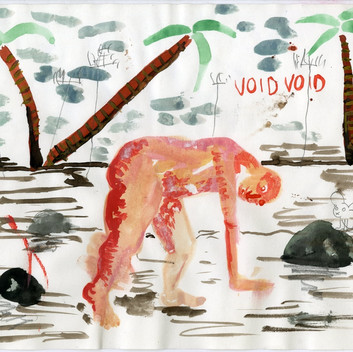 Untitled, 2018, pencil, colour pencil, aquarel on paper, 21x29.7cm