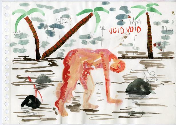 Untitled, 2018, pencil, colour pencil, aquarel on paper, 21x29.7cm EUR 680