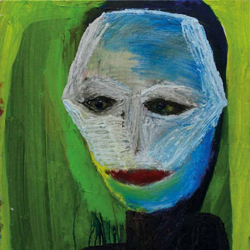 Matthias Dornfeld, untitled (Portrait maskenartig), 2009, 75x65cm