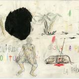 Untitled, 2018 pencil, colour pencil, water colour on paper, 21x29.7cm