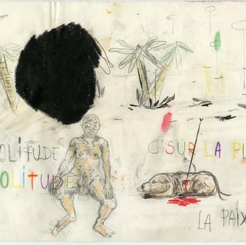 Untitled, 2018 pencil, colour pencil, aquarel on paper, 21x29.7cm