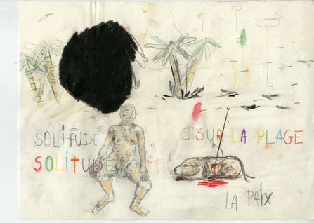 Untitled, 2018 pencil, colour pencil, aquarel on paper, 21x29.7cm sold