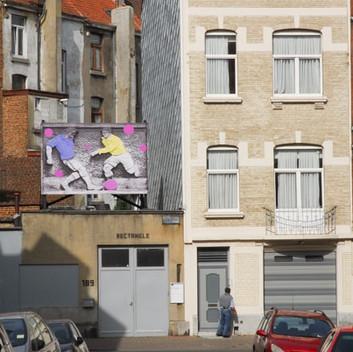 Filip Van Dingenen, installation at Rectangle, Brussels
