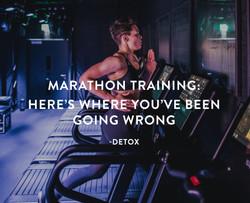 London Marathon training