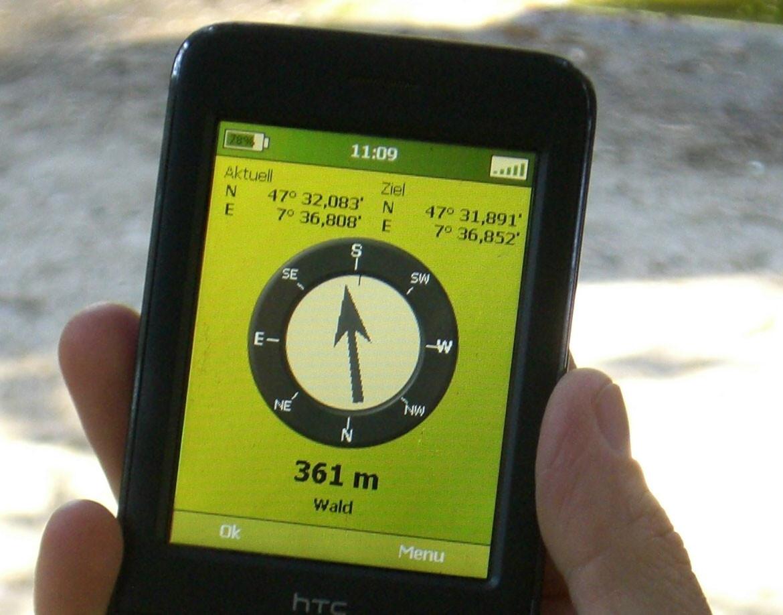 Smartphone/Tablet Kompass