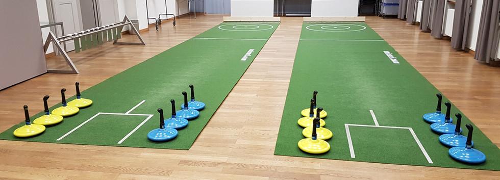2 Bahnen Indoor-Teppich Curling