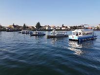 Rhein-Boot-Hunt.Start aller Boote auf ei