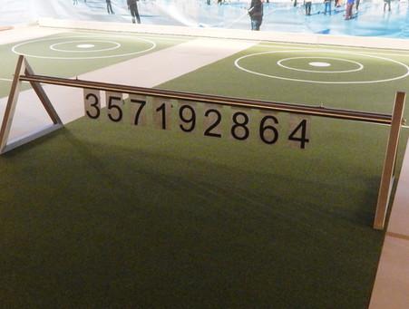 Lättlibock, Eisengestell mit Nummern