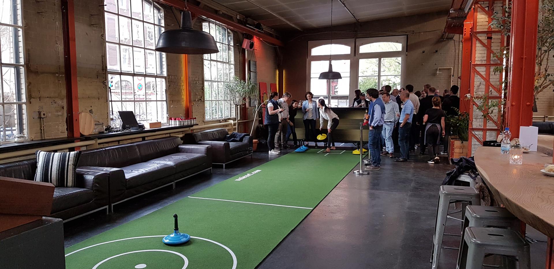 Indoor-Teppich-Curling