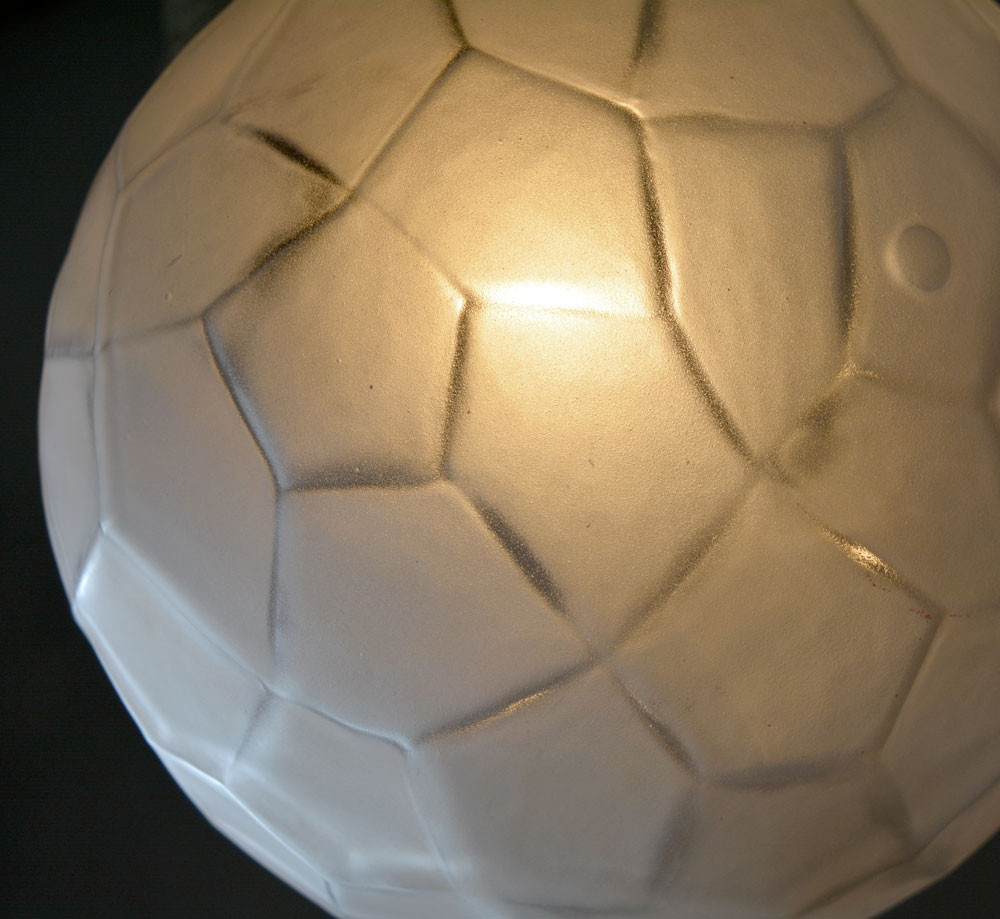 Vintage Facetted Frosted Glass Sphere Shade