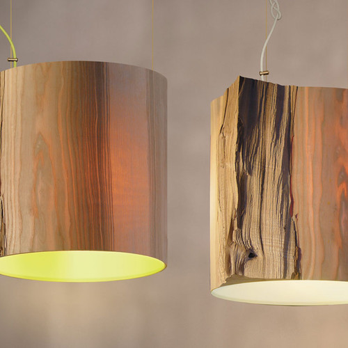 The wise one wood pendant light