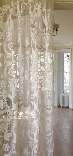 richmond ivory sheer net curtain