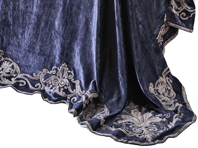 Oscar Embroidered Velvet Soft Furnishings