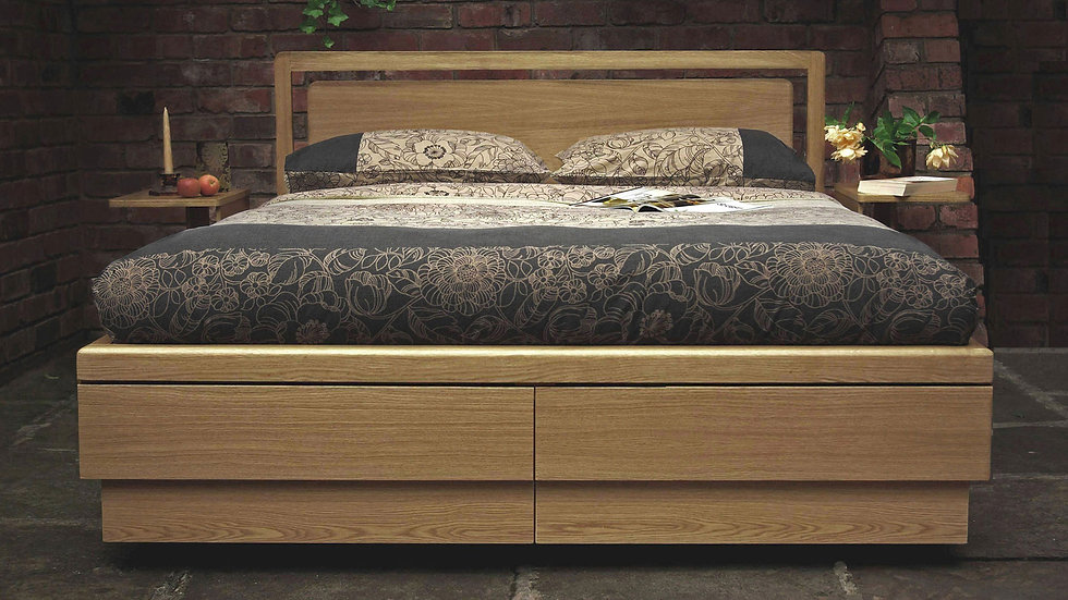 the most beautiful super king oak boxer storage bed