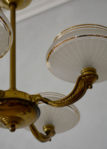 Vintage 1940s French Chandelier Glamour