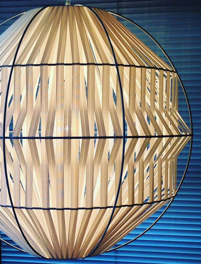 Kahdu Geometric Woven Pendant Light Ilanel