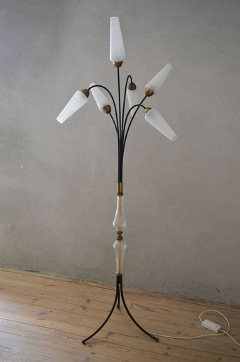 1950s Tripod Floor Lamp Six Shades