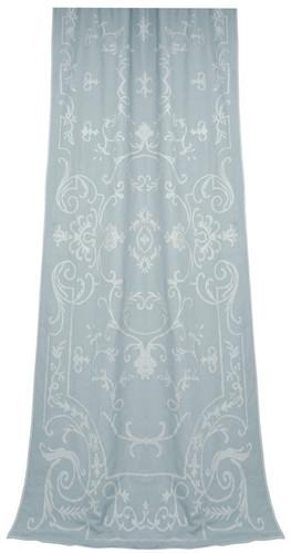 Chatsworth Linen Applique Curtain Panel