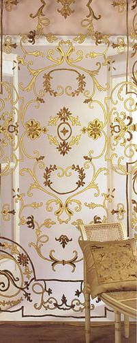 Chatsworth Gold Applique Sheer Panel