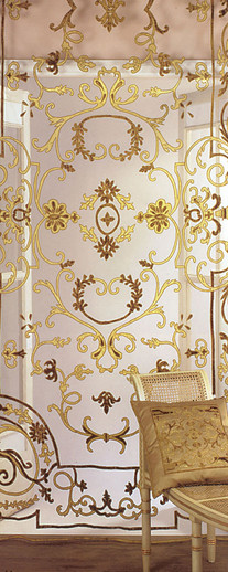 Chatsworth Gold Applique Sheer Panel