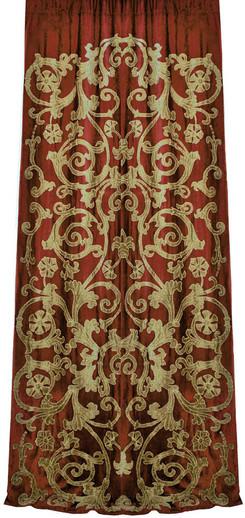Richmond velvet curtain panel Gaynor Churchward