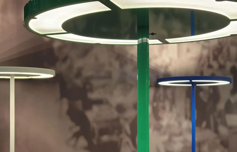 Rotonda Green Office LED Floor Lamp