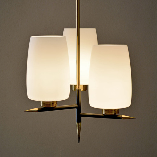 French Vintage Mid-Century Chandelier