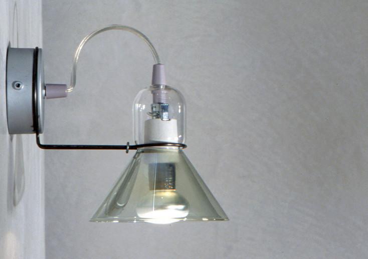 Ipy Parete Transparent Green Wall Light Michele de Lucchi